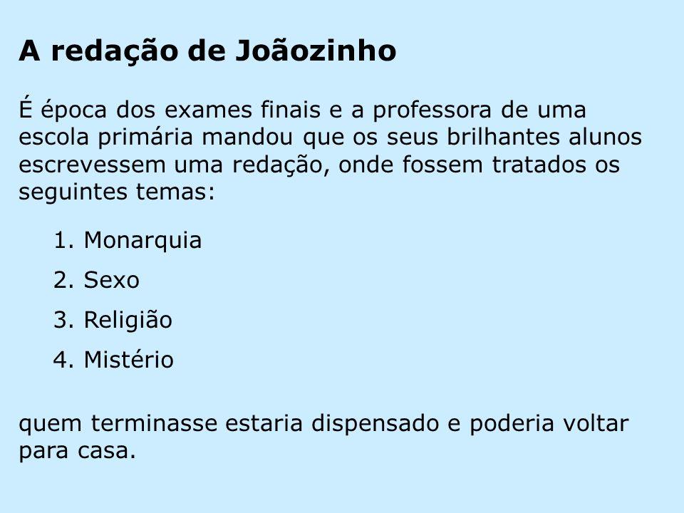 A redação de Joãozinho