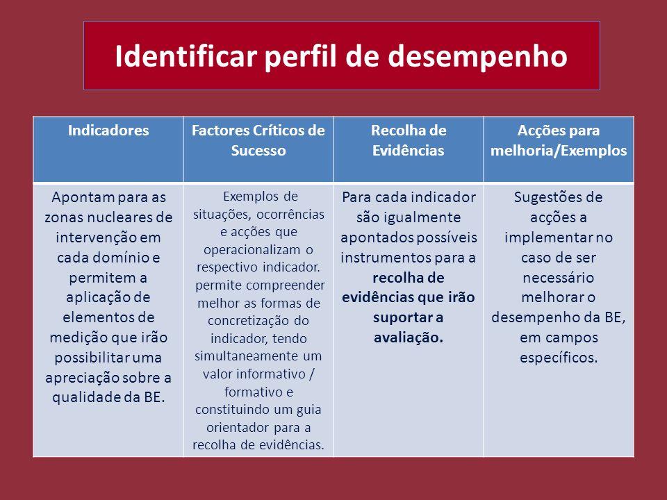 Identificar perfil de desempenho