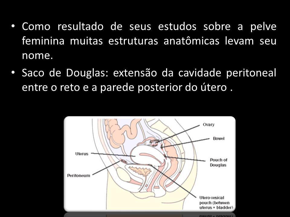 Como resultado de seus estudos sobre a pelve feminina muitas estruturas anatômicas levam seu nome.