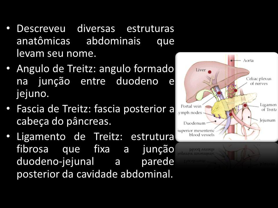 Descreveu diversas estruturas anatômicas abdominais que levam seu nome.