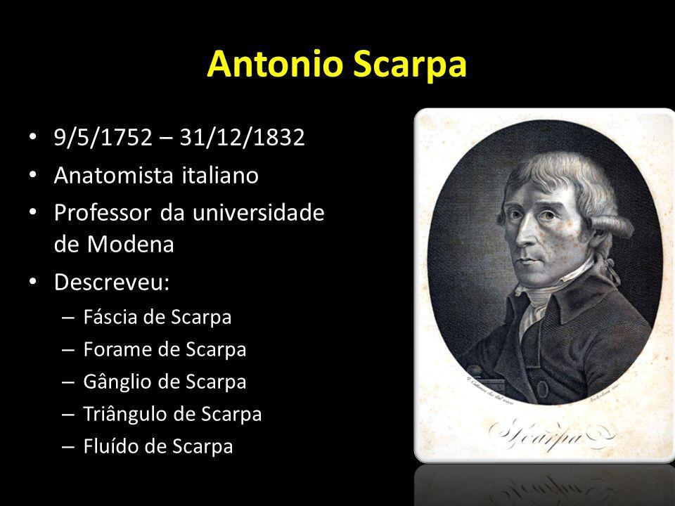 Antonio Scarpa 9/5/1752 – 31/12/1832 Anatomista italiano