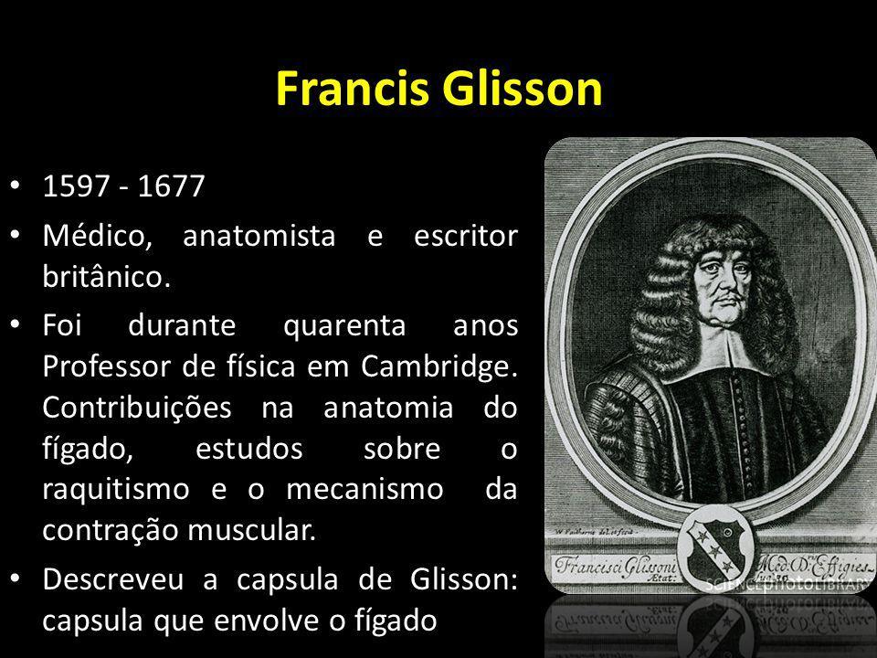 Francis Glisson 1597 - 1677 Médico, anatomista e escritor britânico.