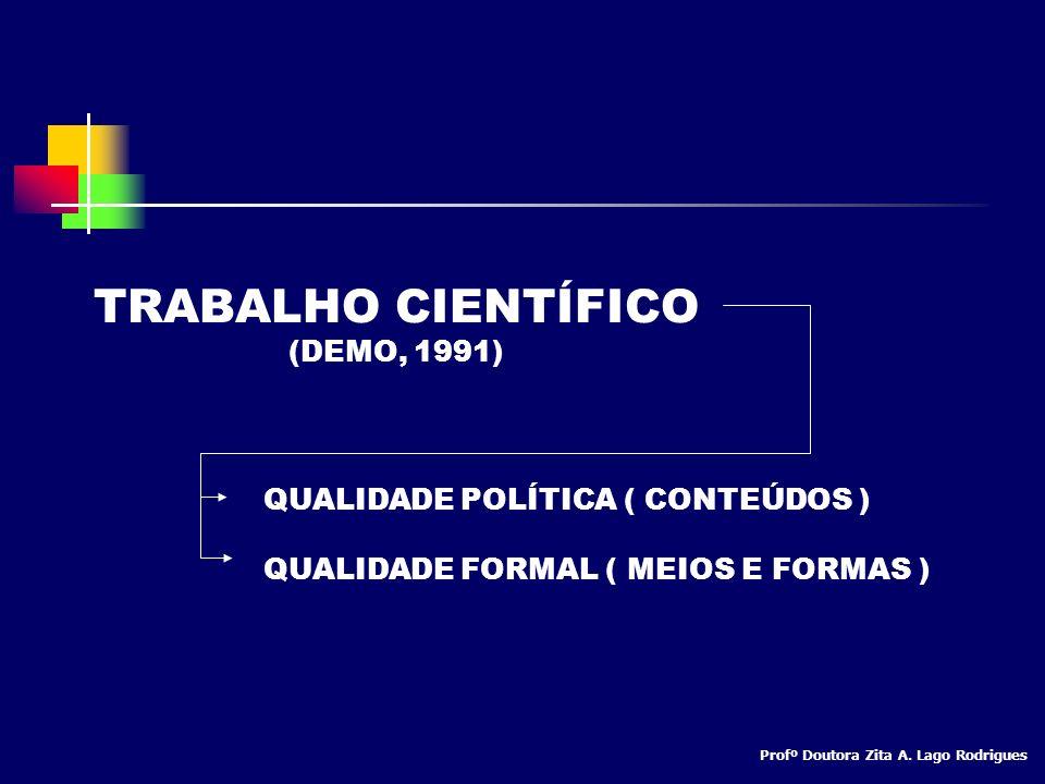 TRABALHO CIENTÍFICO (DEMO, 1991)