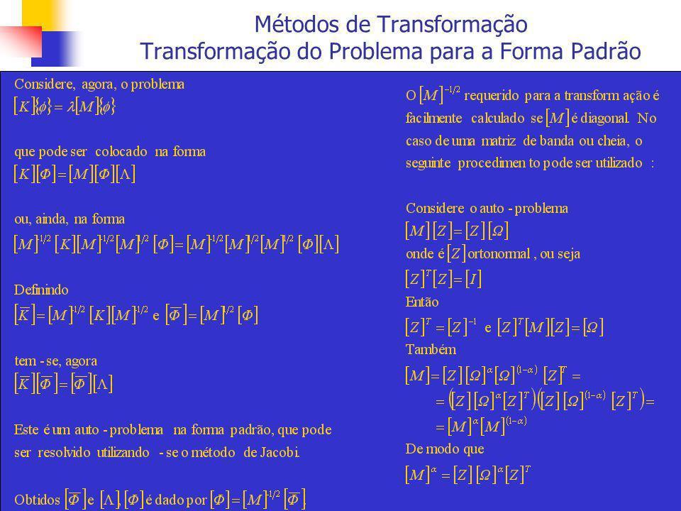 Métodos de Transformação Transformação do Problema para a Forma Padrão