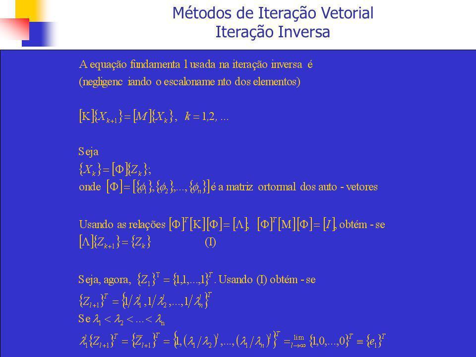 Métodos de Iteração Vetorial Iteração Inversa