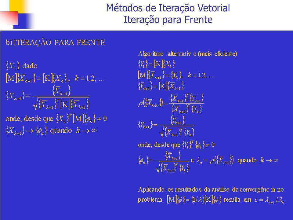 Métodos de Iteração Vetorial Iteração para Frente