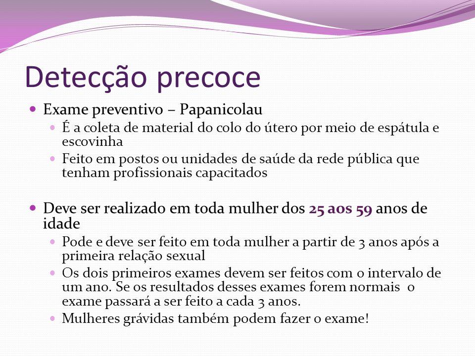 Detecção precoce Exame preventivo – Papanicolau