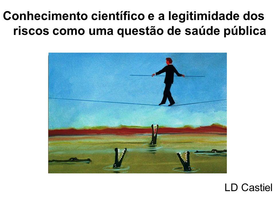 Conhecimento científico e a legitimidade dos riscos como uma questão de saúde pública