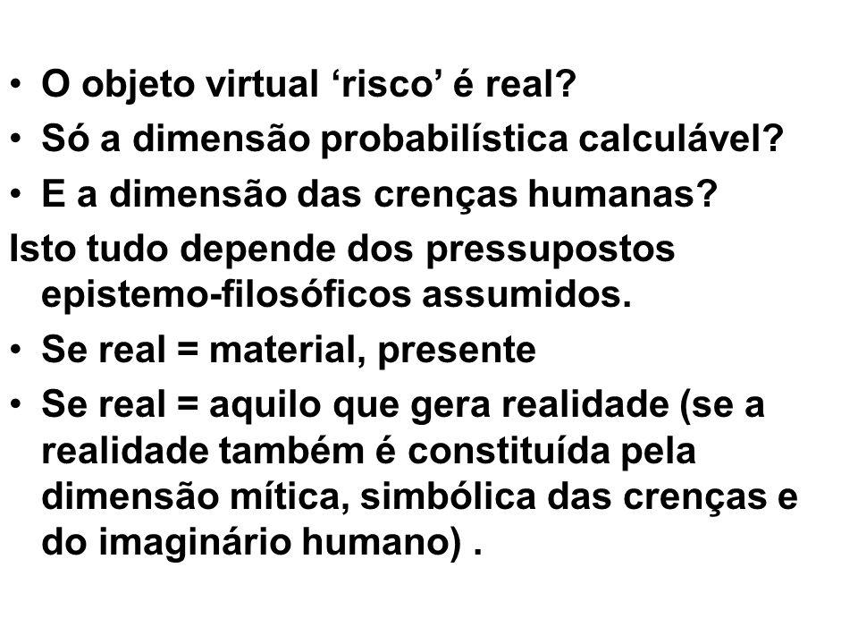 O objeto virtual 'risco' é real