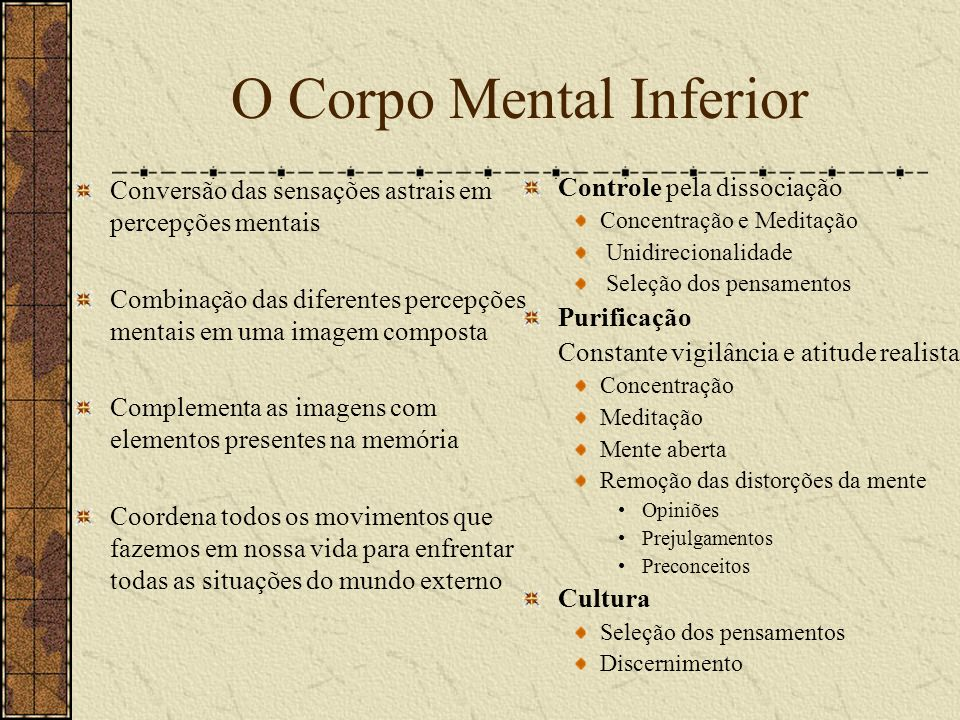 O Corpo Mental Inferior