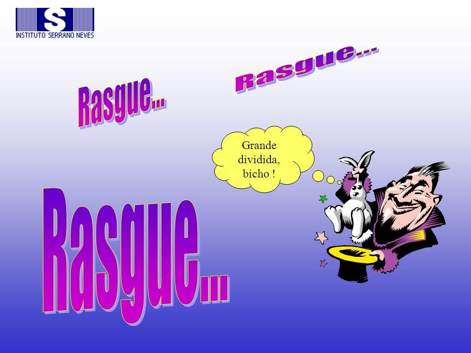 Rasgue... Rasgue... Grande dividida, bicho ! Rasgue...