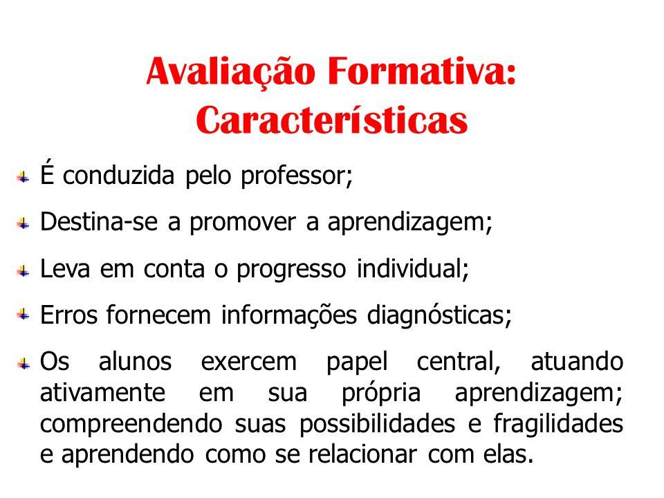 Avaliação Formativa: Características