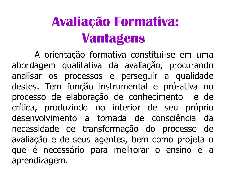 Avaliação Formativa: Vantagens