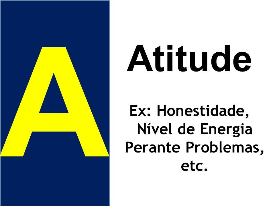 Ex: Honestidade, Nível de Energia Perante Problemas, etc.