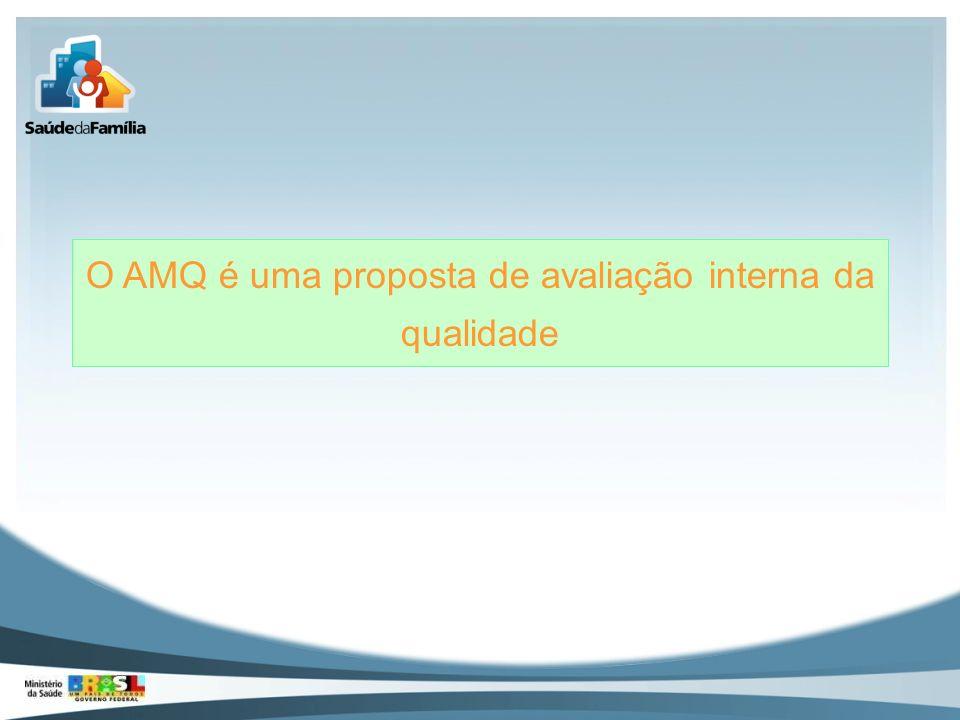 O AMQ é uma proposta de avaliação interna da qualidade