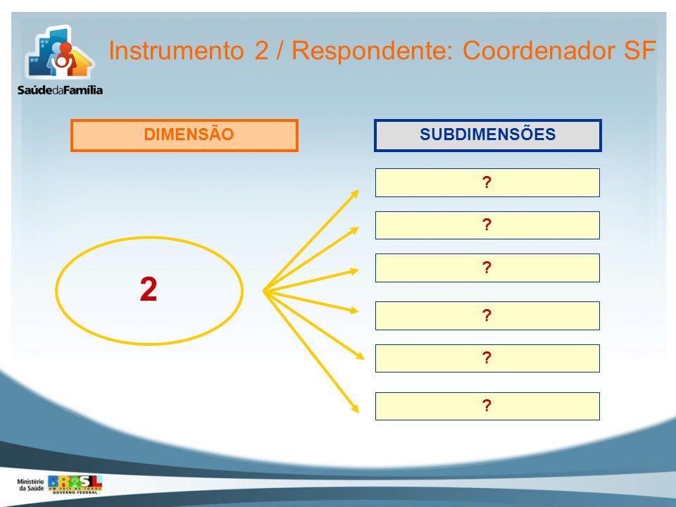 Instrumento 2 / Respondente: Coordenador SF