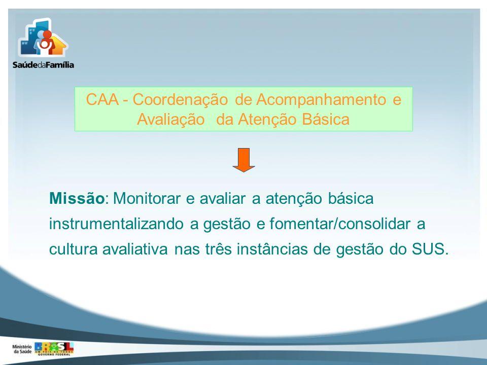 CAA - Coordenação de Acompanhamento e Avaliação da Atenção Básica
