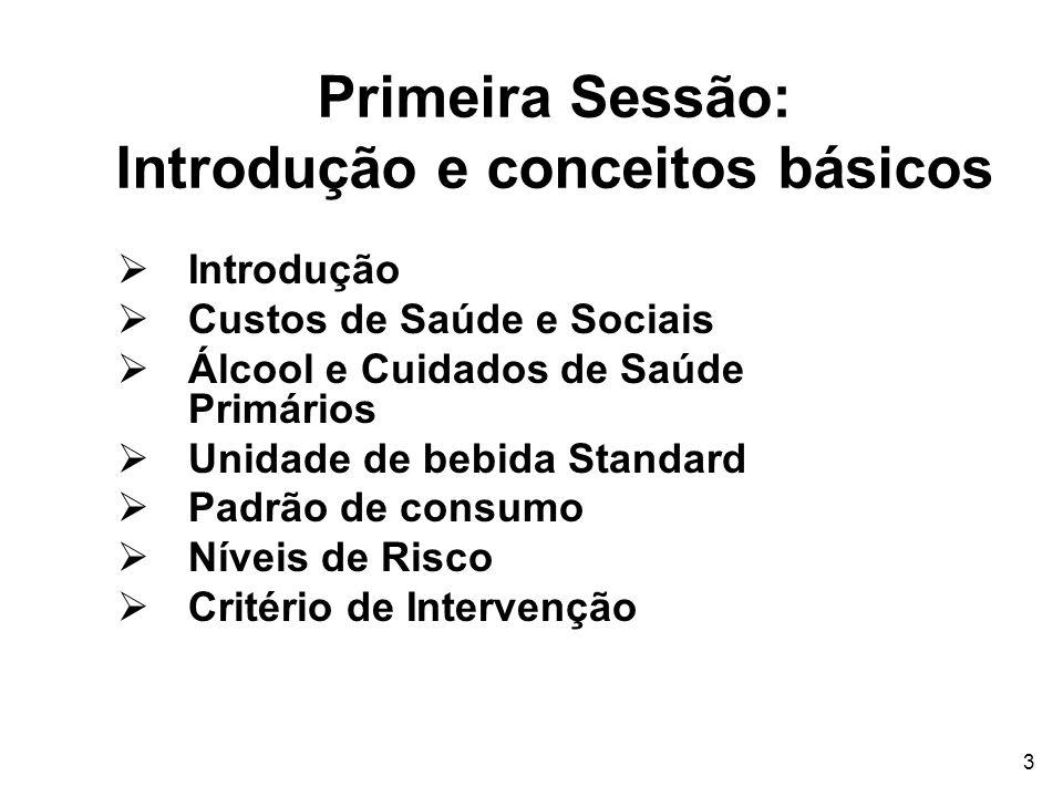 Primeira Sessão: Introdução e conceitos básicos