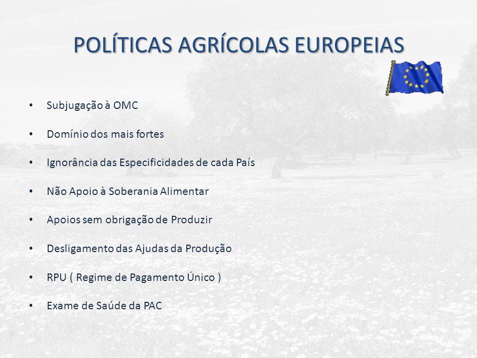 POLÍTICAS AGRÍCOLAS EUROPEIAS