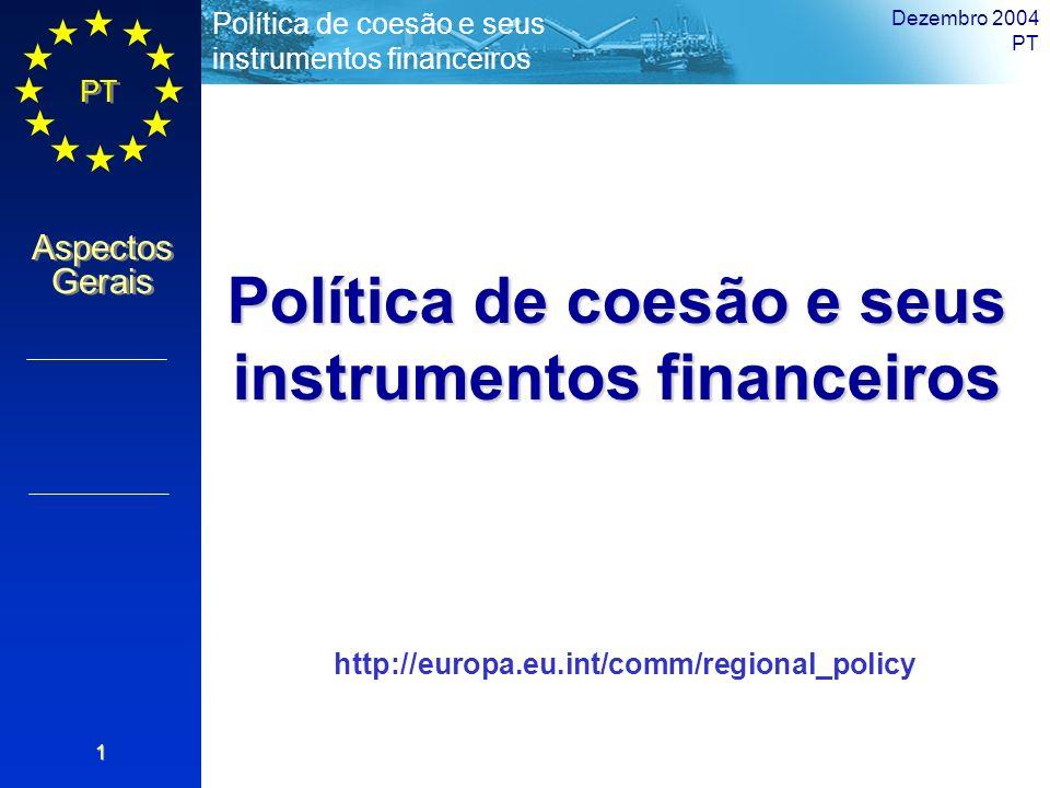 Política de coesão e seus instrumentos financeiros