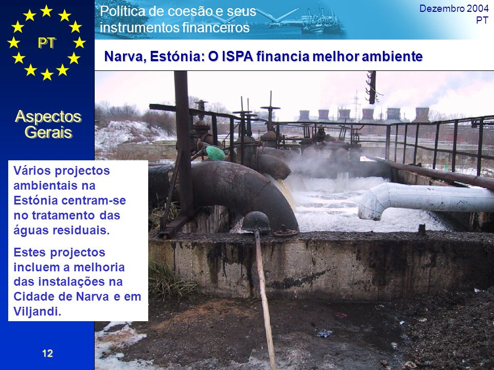 Narva, Estónia: O ISPA financia melhor ambiente