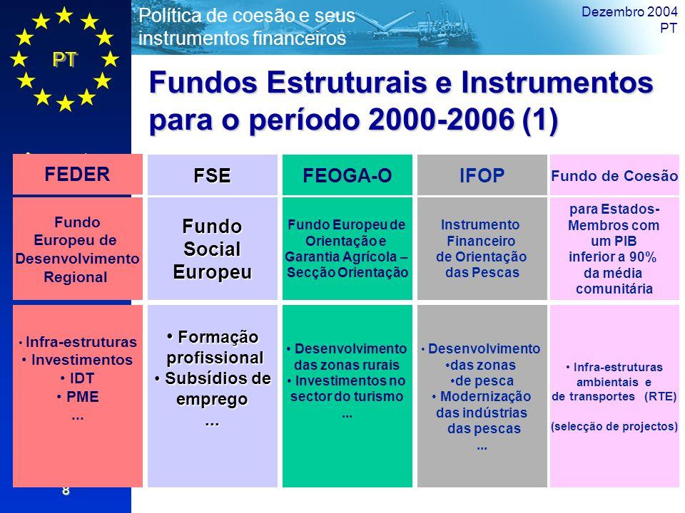 Fundos Estruturais e Instrumentos para o período 2000-2006 (1)