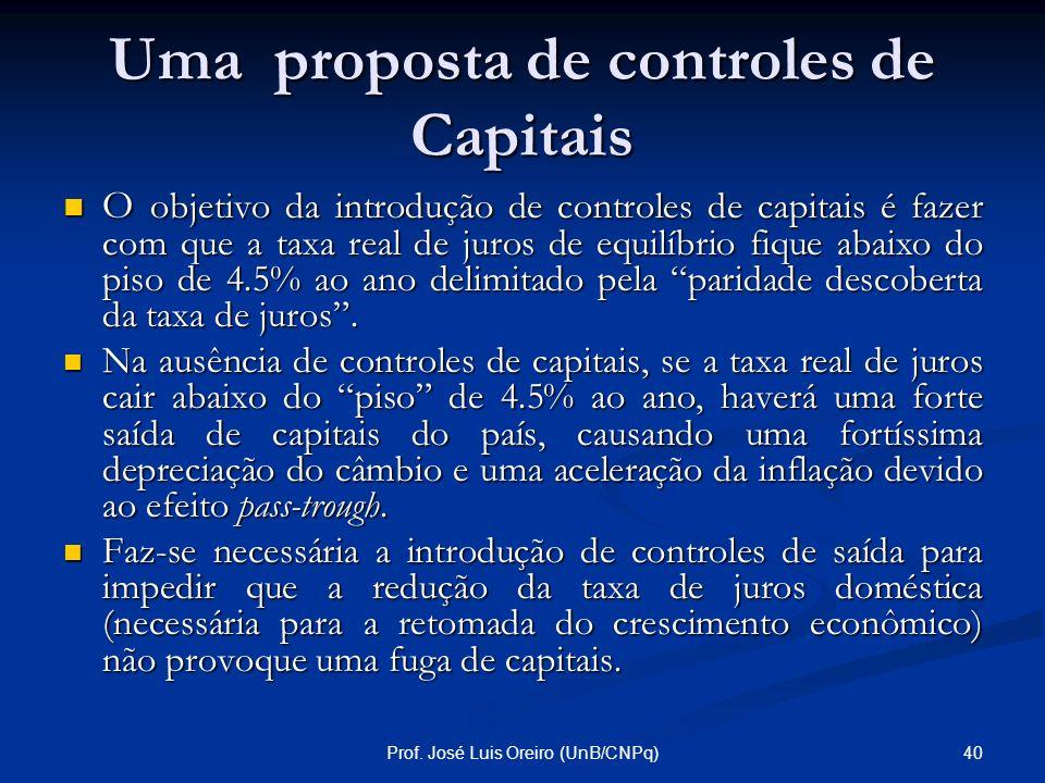 Uma proposta de controles de Capitais