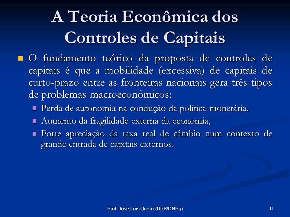 A Teoria Econômica dos Controles de Capitais