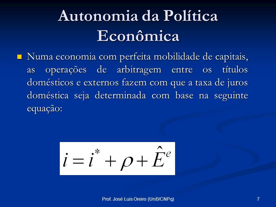 Autonomia da Política Econômica