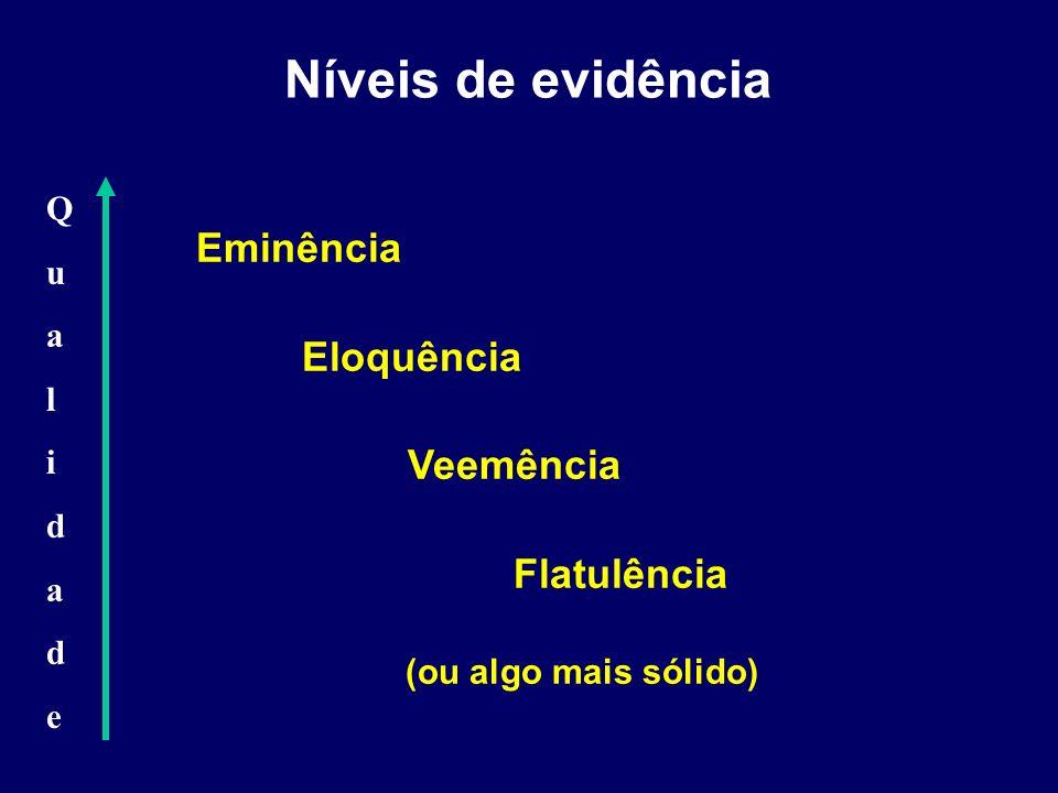 Níveis de evidência Eminência Eloquência Veemência Flatulência Q u a l