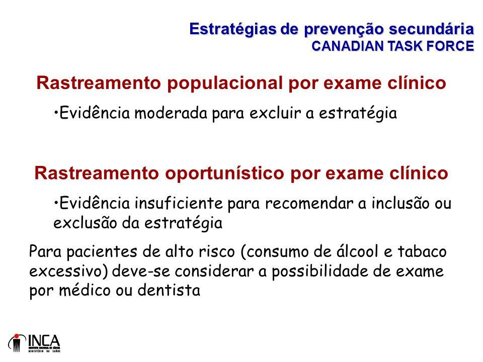 Rastreamento populacional por exame clínico