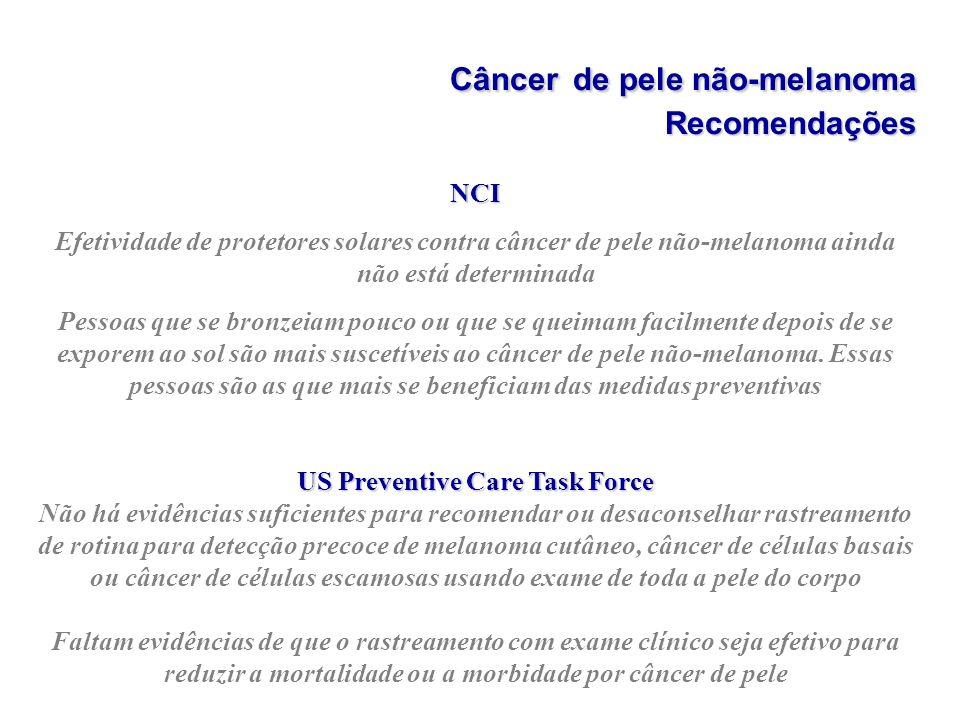 Câncer de pele não-melanoma Recomendações