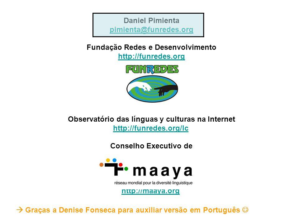 Fundação Redes e Desenvolvimento http://funredes.org