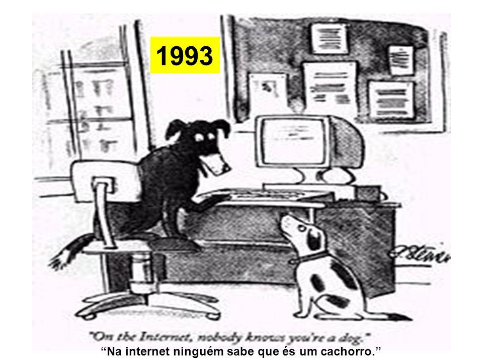 1993 Na internet ninguém sabe que és um cachorro.