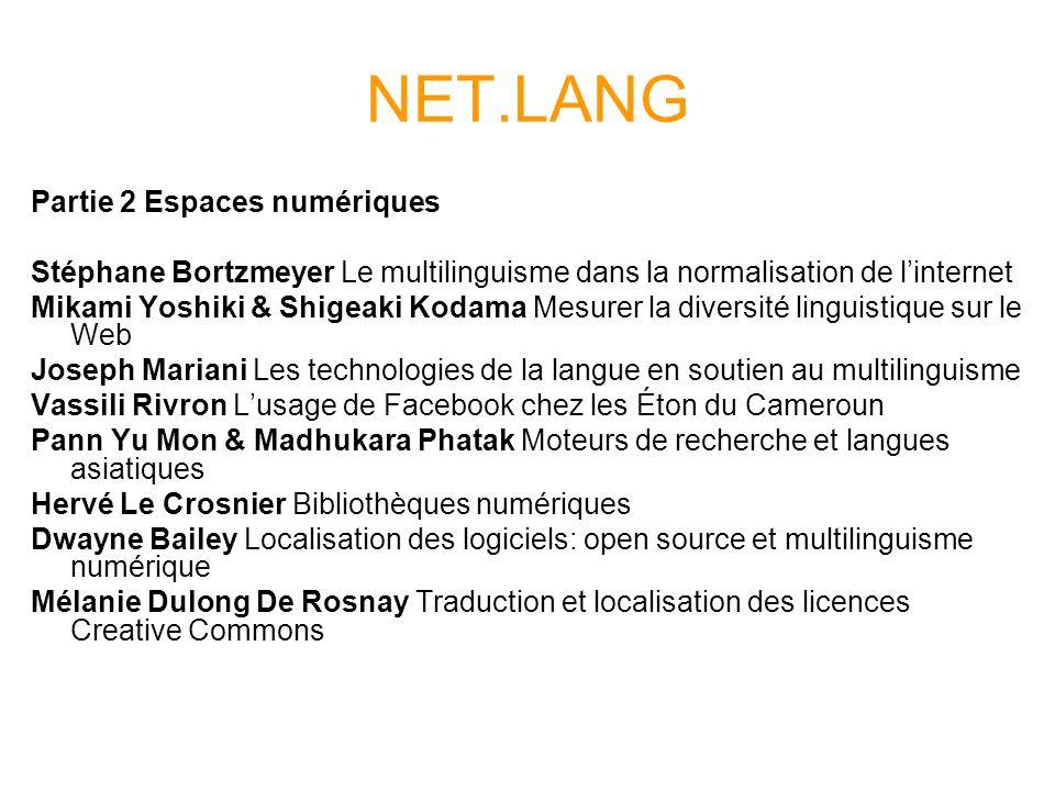 NET.LANG Partie 2 Espaces numériques