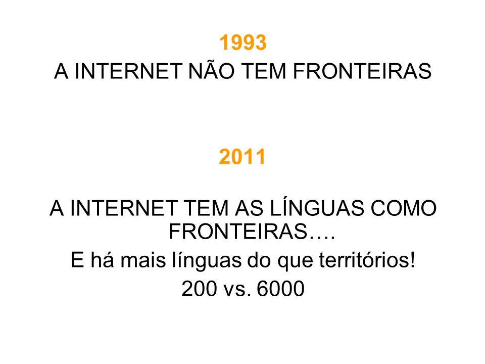 A INTERNET NÃO TEM FRONTEIRAS