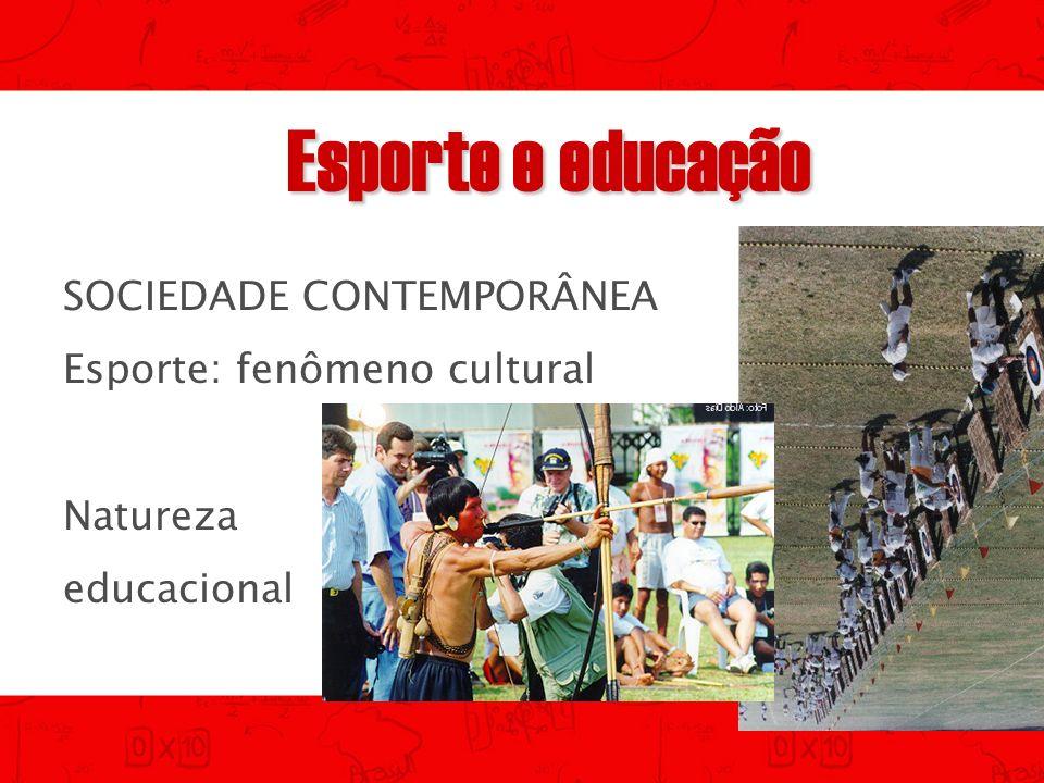 Esporte e educação SOCIEDADE CONTEMPORÂNEA Esporte: fenômeno cultural