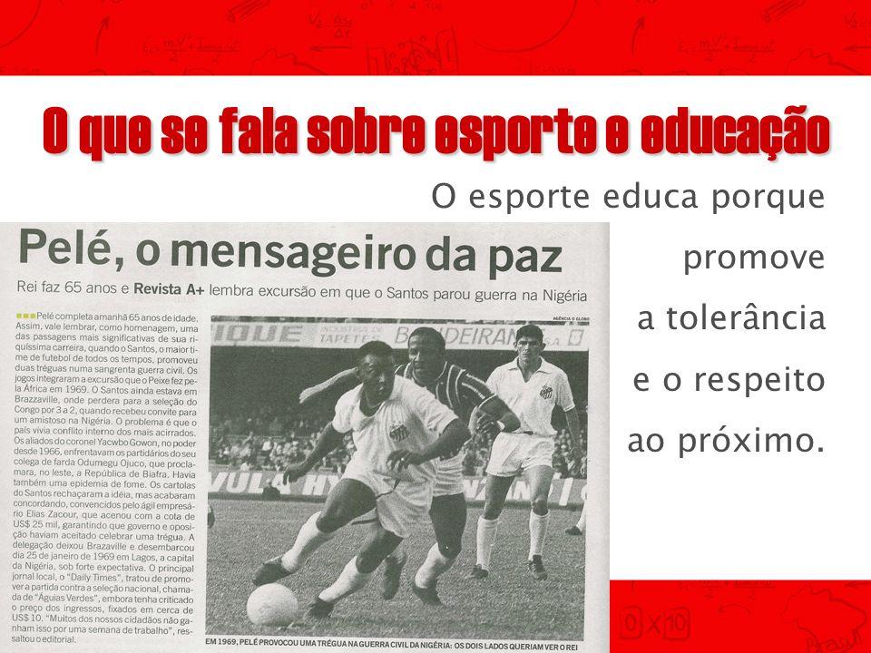 O que se fala sobre esporte e educação