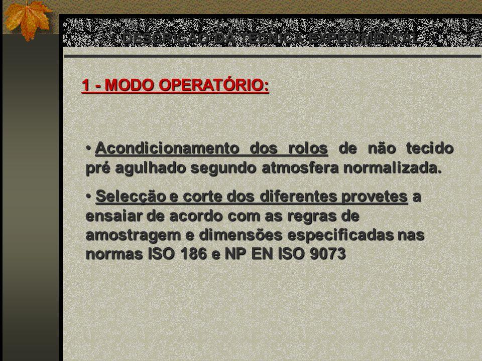 DESCRIÇÃO DA TÉCNICA EXPERIMENTAL