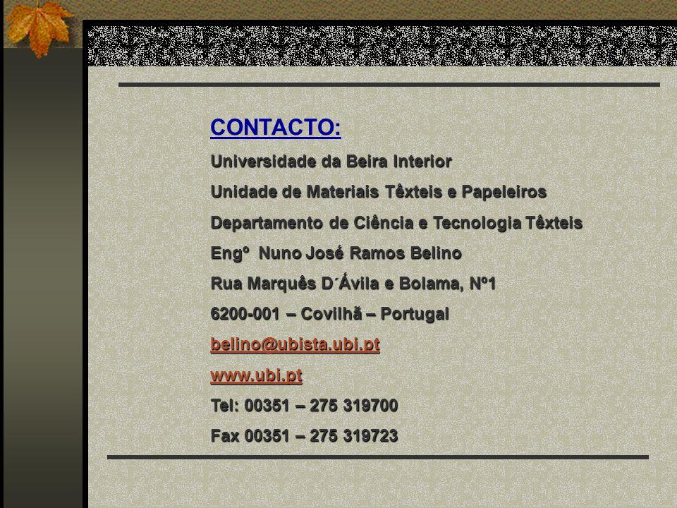 CONTACTO: Universidade da Beira Interior