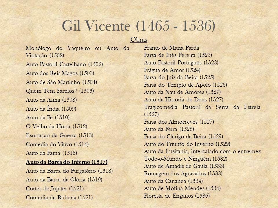 Gil Vicente (1465 - 1536) Obras.