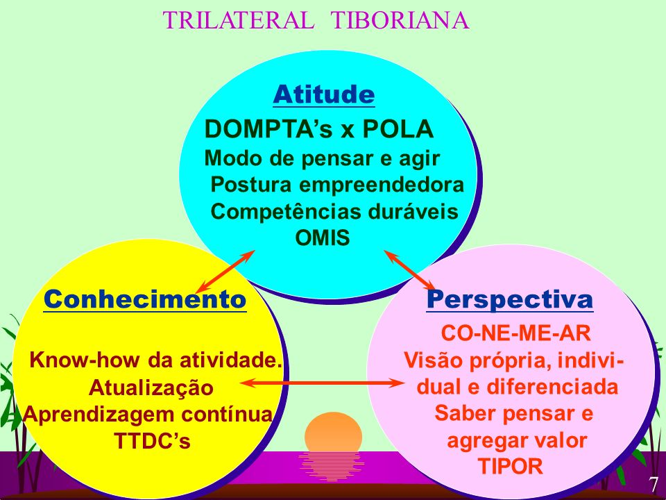 Atitude TRILATERAL TIBORIANA DOMPTA's x POLA Conhecimento Perspectiva