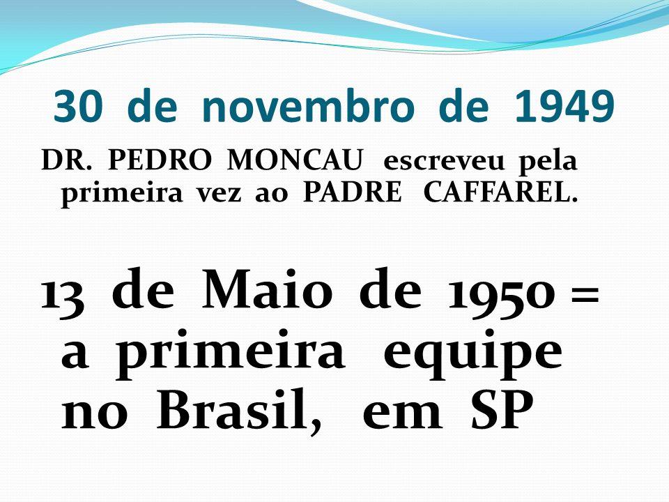 13 de Maio de 1950 = a primeira equipe no Brasil, em SP