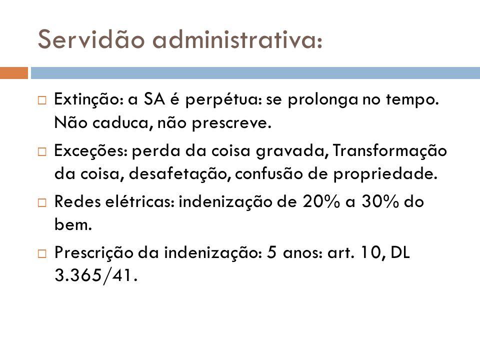 Servidão administrativa: