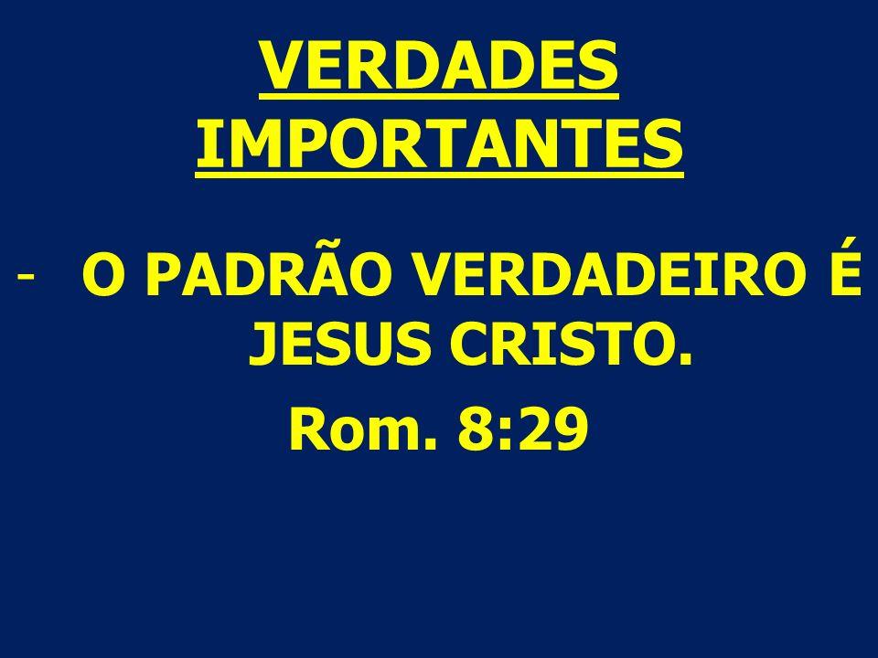 O PADRÃO VERDADEIRO É JESUS CRISTO.