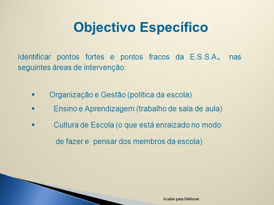Objectivo Específico: