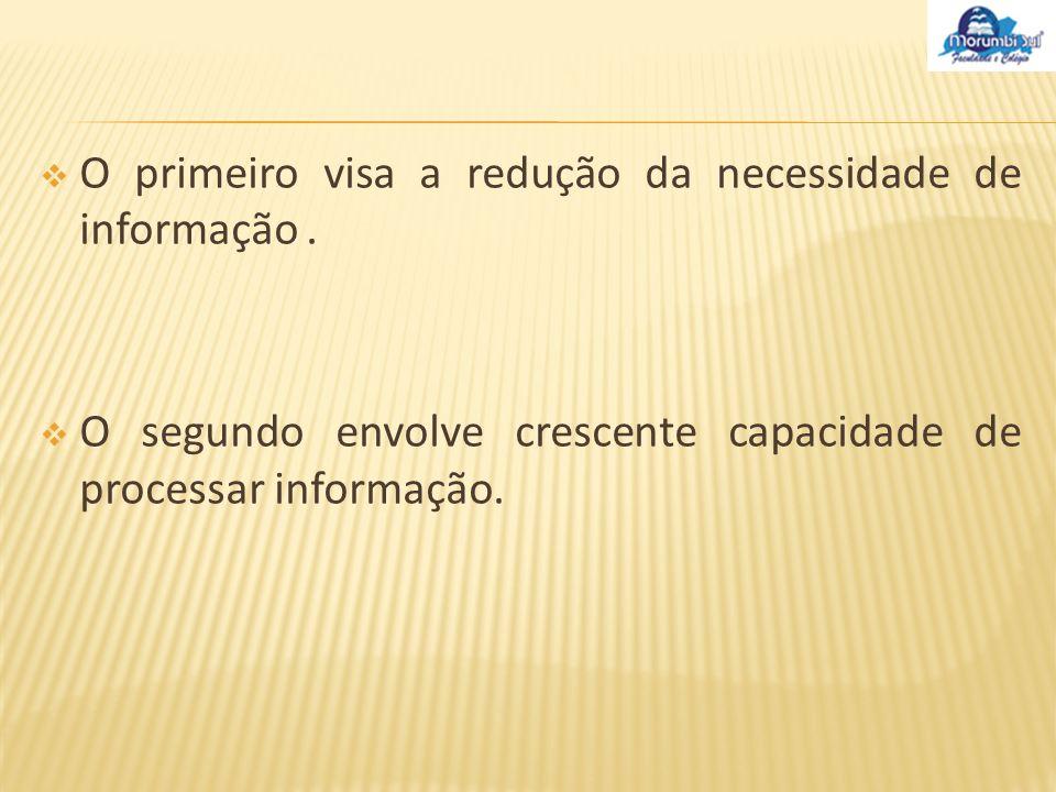 O primeiro visa a redução da necessidade de informação .