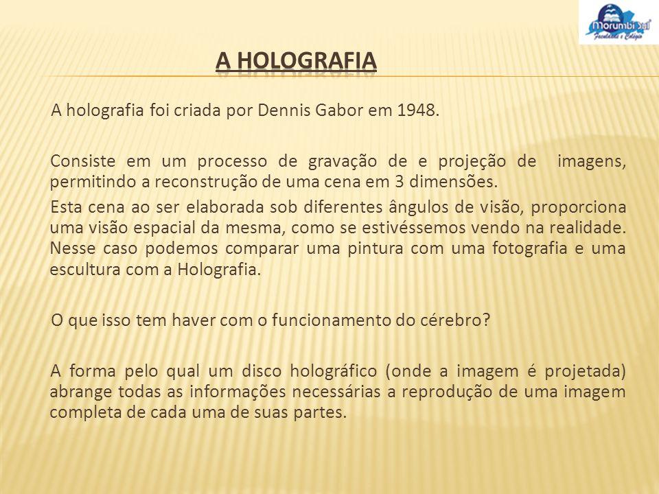 A holografia A holografia foi criada por Dennis Gabor em 1948.