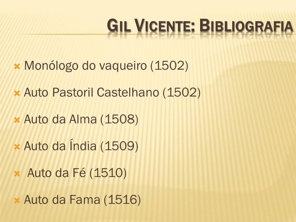 Gil Vicente: Bibliografia