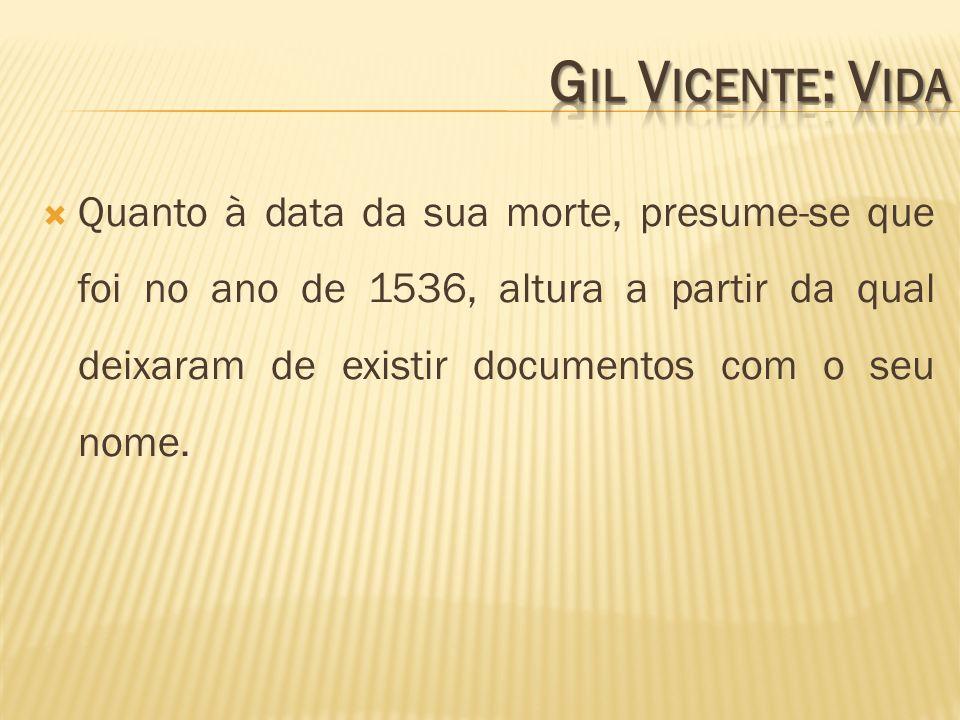 Gil Vicente: Vida
